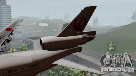 DC-10-30 Japan Airlines для GTA San Andreas вид сзади слева