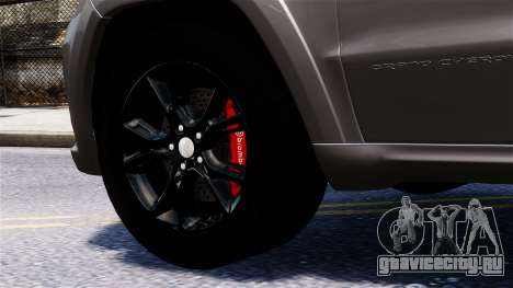 Jeep Grand Cherokee SRT8 2015 для GTA 4 вид справа