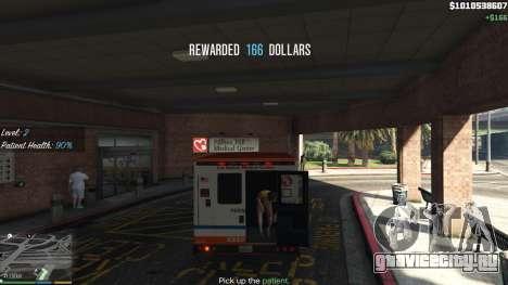 Миссии скорой помощи v.1.3 для GTA 5