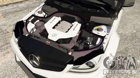 Mercedes-Benz C63 AMG 2012 для GTA 5 вид справа