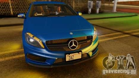 Mercedes-Benz A45 AMG 2012 PJ для GTA San Andreas вид изнутри