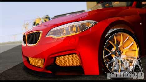 BMW 235i F22 для GTA San Andreas вид сзади слева
