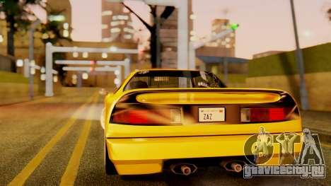 HD Infernus для GTA San Andreas вид слева
