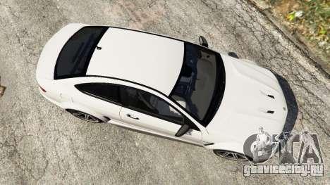 Mercedes-Benz C63 AMG 2012 для GTA 5 вид сзади