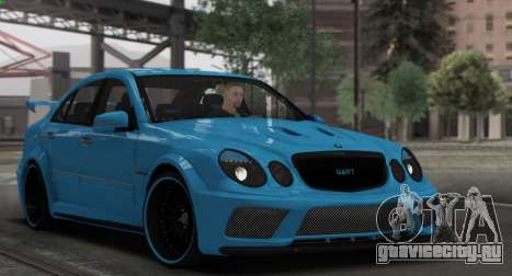 Mercedes-Benz E63 Qart Tuning для GTA San Andreas вид сверху