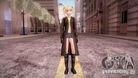 Leather Coat Short Skirt Ani для GTA San Andreas второй скриншот
