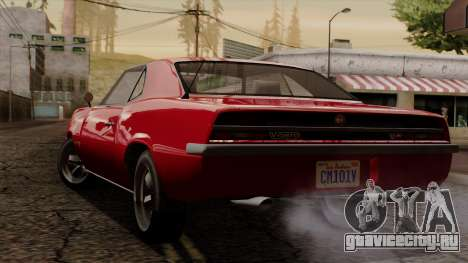 GTA 5 Declasse Vigero IVF для GTA San Andreas вид сзади слева