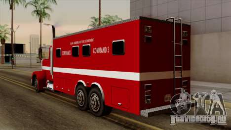 FDSA Mobile Command Post Truck для GTA San Andreas вид слева