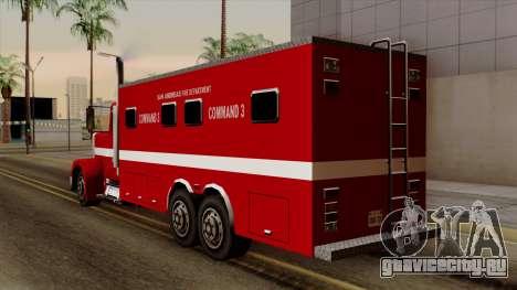 FDSA Mobile Command Post Truck для GTA San Andreas вид слева