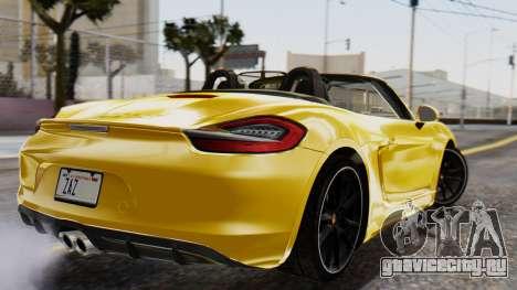 Porsche Boxter GTS 2016 для GTA San Andreas вид слева
