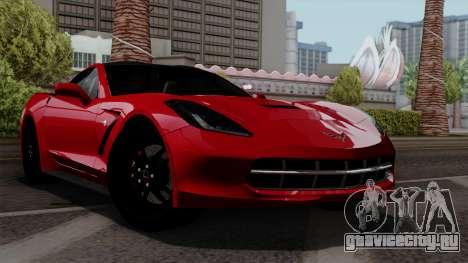 Chevrolet Corvette C7 Stingray 1.0.1 для GTA San Andreas вид изнутри