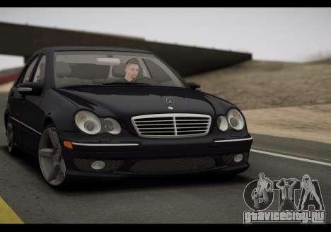 Mercedes-Benz C32 W203 2004 для GTA San Andreas вид слева