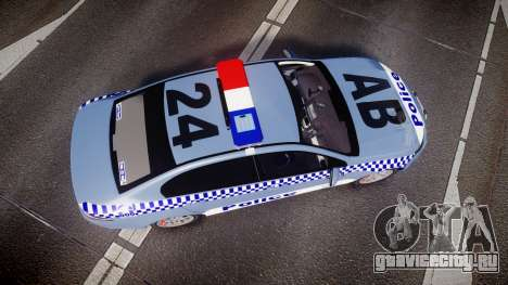 Ford Falcon FG XR6 Turbo NSW Police [ELS] v2.0 для GTA 4 вид справа