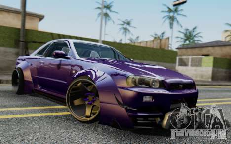 Nissan Skyline GT-R R34 Battle Machine для GTA San Andreas