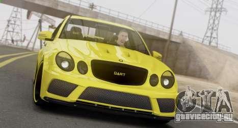 Mercedes-Benz E63 Qart Tuning для GTA San Andreas вид слева