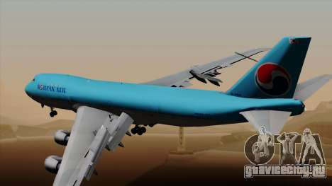 Boeing 747 Korean Air для GTA San Andreas вид слева