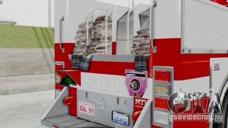 MTL SAFD Firetruck Flat Shadow для GTA San Andreas вид сзади