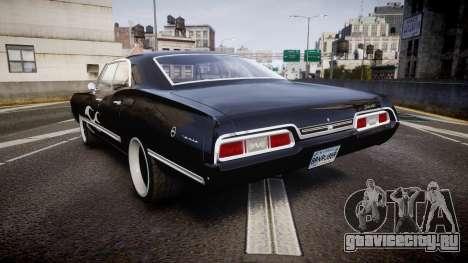 Chevrolet Impala 1967 Custom livery 4 для GTA 4 вид сзади слева
