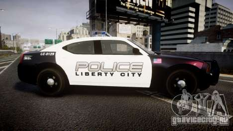 Dodge Charger Police Liberty City [ELS] для GTA 4 вид слева