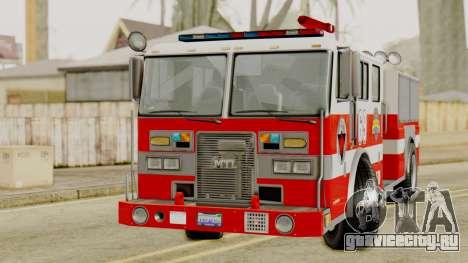 MTL SAFD Firetruck для GTA San Andreas вид справа
