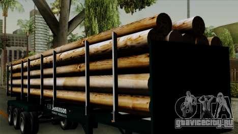 Trailer Log v2 для GTA San Andreas вид изнутри