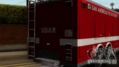 FDSA Urban Search & Rescue Truck для GTA San Andreas вид сзади
