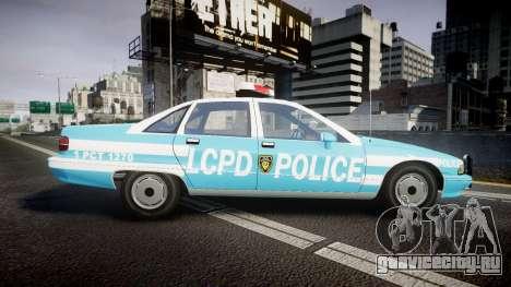 Chevrolet Caprice 1991 Police для GTA 4 вид слева