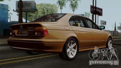 BMW 530D E39 2001 Stock для GTA San Andreas вид слева