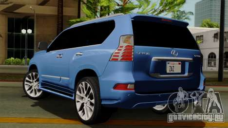 Lexus GX460 2014 v1 для GTA San Andreas вид слева