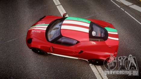 Alfa Romeo 4C 2014 SBK Safety Car для GTA 4 вид справа