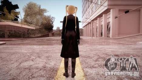Leather Coat Short Skirt Ani для GTA San Andreas третий скриншот