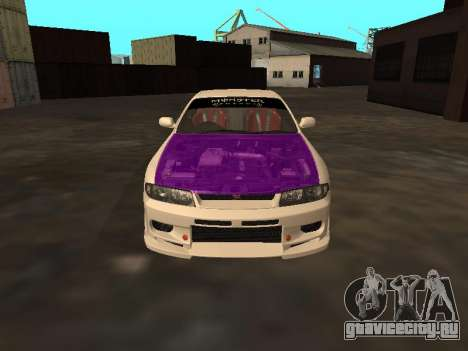 Nissan Skyline R33 Drift Monster Energy JDM для GTA San Andreas вид сверху