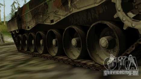 Leopard 2A4 для GTA San Andreas вид сзади слева