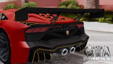 Pegassi Zentorno SM GT3 для GTA San Andreas вид сзади