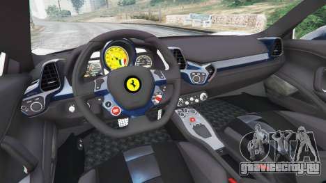 Ferrari 458 Italia v1.0.5 для GTA 5 вид сзади справа