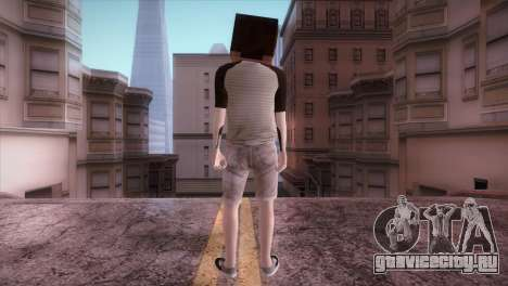 Minecraft Boy для GTA San Andreas третий скриншот