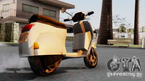 New Faggio для GTA San Andreas вид слева