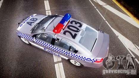 Holden VE Commodore SS Highway Patrol [ELS] для GTA 4 вид справа