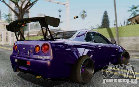 Nissan Skyline GT-R R34 Battle Machine для GTA San Andreas вид слева