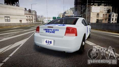 Dodge Charger NOOSE [ELS] для GTA 4 вид сзади слева