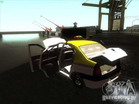 Дачия Логан такси UNIVIP для GTA San Andreas вид справа