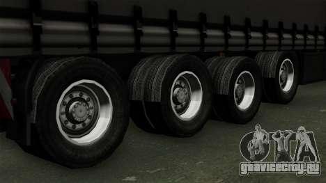 Trailer Krone Profiliner v4 для GTA San Andreas вид сзади слева