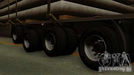 Flatbed3 Grey для GTA San Andreas вид сзади слева