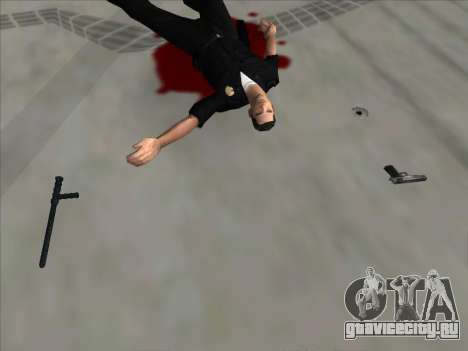 Weapons on the Ground для GTA San Andreas третий скриншот