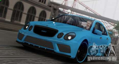Mercedes-Benz E63 Qart Tuning для GTA San Andreas салон