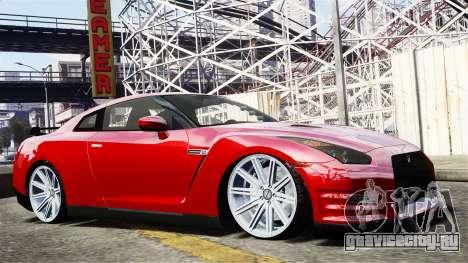 Nissan GT-R AMS 2012 для GTA 4 вид сзади