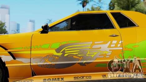Elegy Supra PJ для GTA San Andreas вид сзади слева