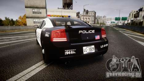 Dodge Charger Police Liberty City [ELS] для GTA 4 вид сзади слева