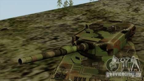 Leopard 2A4 для GTA San Andreas вид сзади