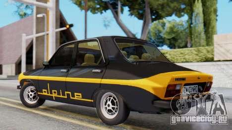 Renault 12 Alpine для GTA San Andreas вид слева